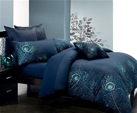 peacock feather comforter set blue peacock feathers 7 pc comforter set l seasons collections
