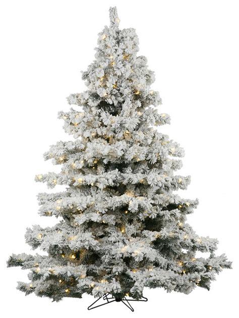 7 5 flocked alaskan warm led lights christmas trees