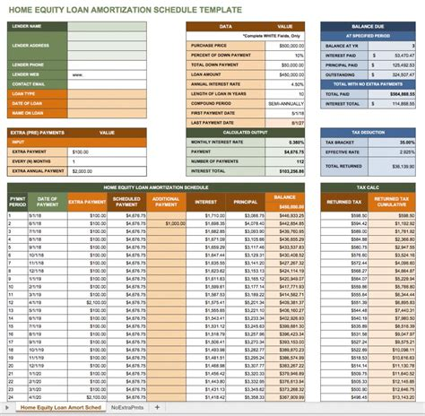 house equity loan calculator free excel amortization schedule templates smartsheet