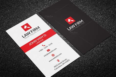 attorney business card template business card business card templates on creative market