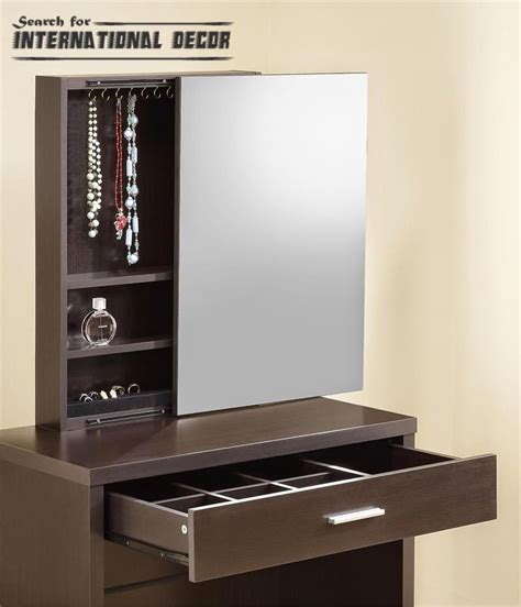 modern dressing table designs for bedroom dark brown dressing table designs with single drawer with