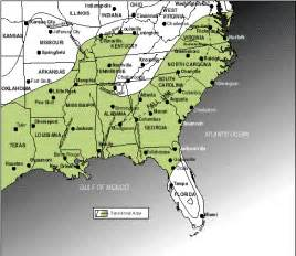 Map Of The South Of Usa by An Outline Of American Geography Map 7