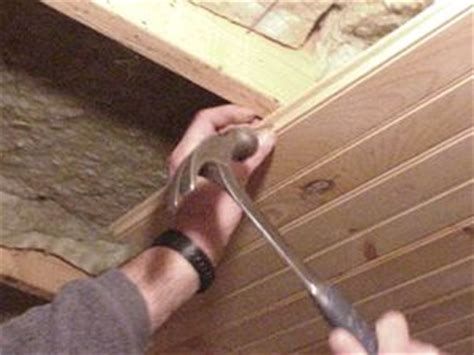 Nailing Tongue And Groove Ceiling by Paneling
