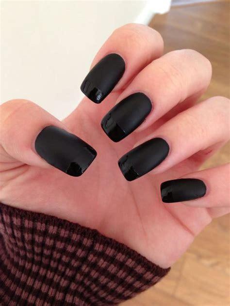 matt gel nails 15 matte black gel nail designs ideas trends 2016