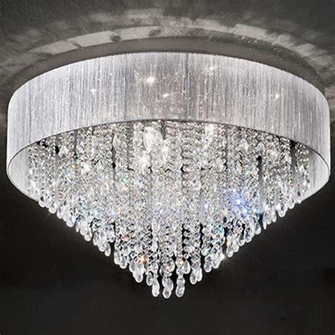franklite royale 4 light chrome flush ceiling