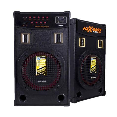 Speaker Aktif Bluetooth Radio jual sanken smm 3500 bluetooth speaker aktif harga kualitas terjamin blibli