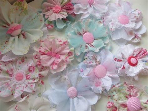 shabby chic flower and tulle flowers on pinterest