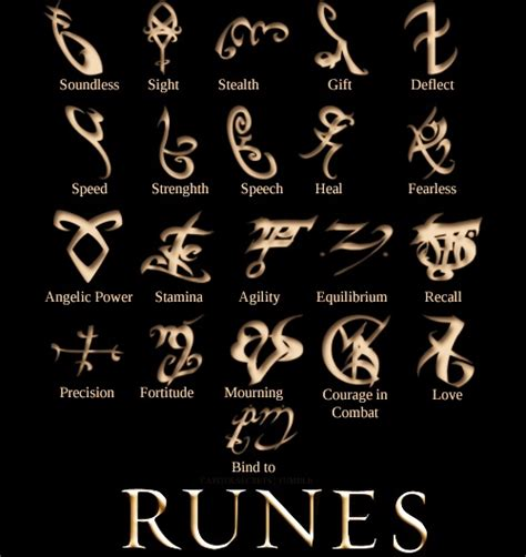 the mortal instruments shadowhunter rune jewellery