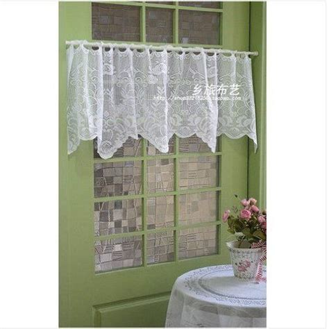 Lace Kitchen Curtains Image Detail For All Crochet Lace Cafe Curtain Valance Home Kitchen