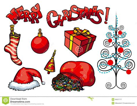 images of christmas objects christmas objects set royalty free stock photography