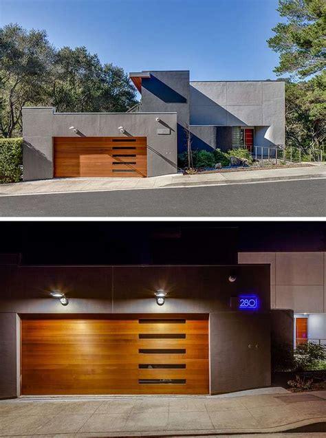 moderne garagen porte de garage bois massif en 18 propositions originales