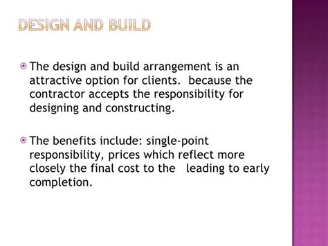 variations in design and build contract estimating and tendering methods for construction work