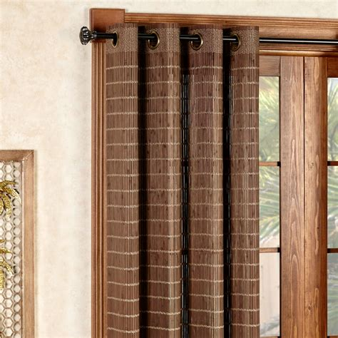 bamboo grommet curtains bamboo light filtering grommet panel