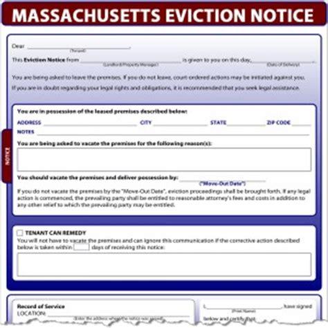 Eviction Tenant At Will Massachusetts Massachusetts Eviction Notice