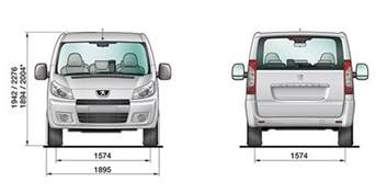 Peugeot Expert Dimensions Peugeot Expert Tepee 9 Places Dimensions Inspiration