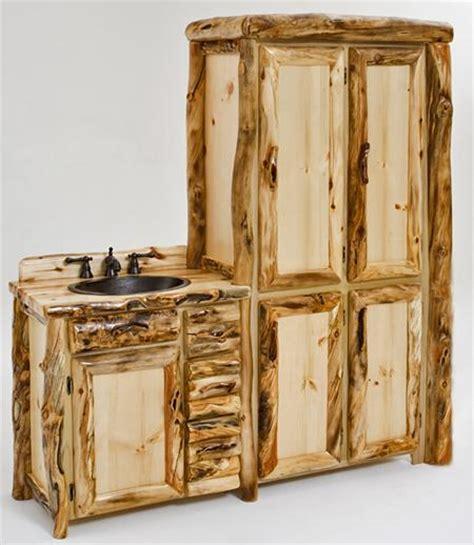 Log Vanity Custom Sizes Cabin Vanities Hand Crafted Wood Log Bathroom Vanity