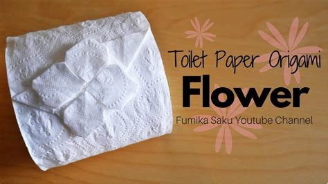 Toilet Paper Origami Flower - how to make toilet paper origami flower