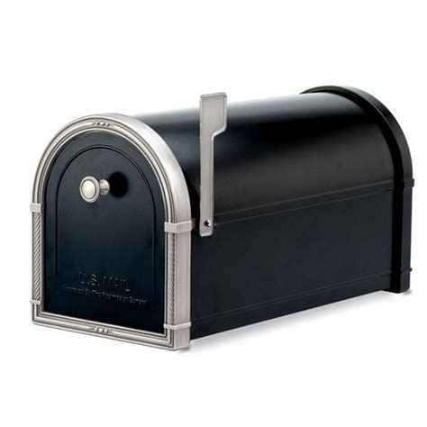 architectural mailboxes coronado black with antique nickel