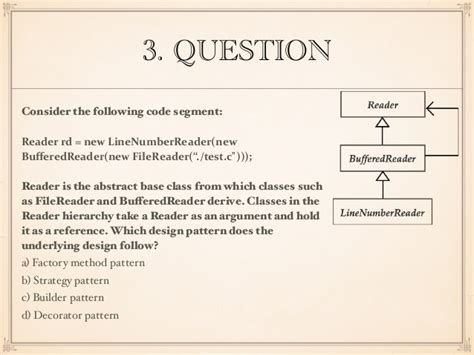 design pattern questions for experienced software architecture quiz questions