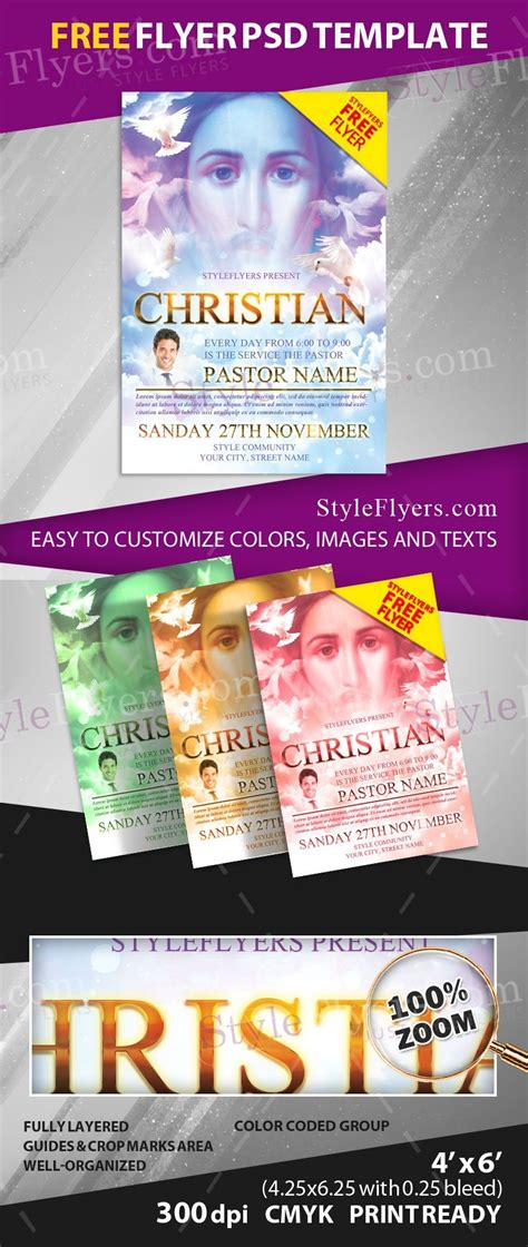 Christian Free Psd Flyer Template Free Download 12801 Styleflyers Christian Flyer Template Free
