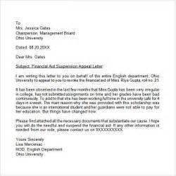 appeal letter 7 free sles exles format