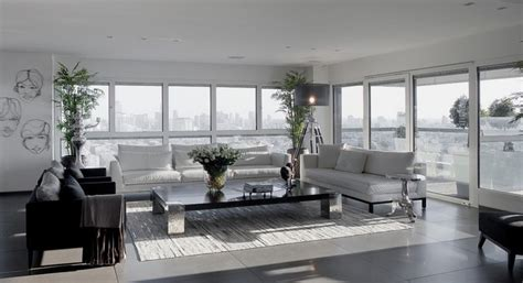 grey interior design modern white and gray apartment interior design by