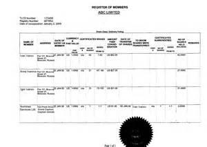 register of members template pin statutory declaration by citizen on