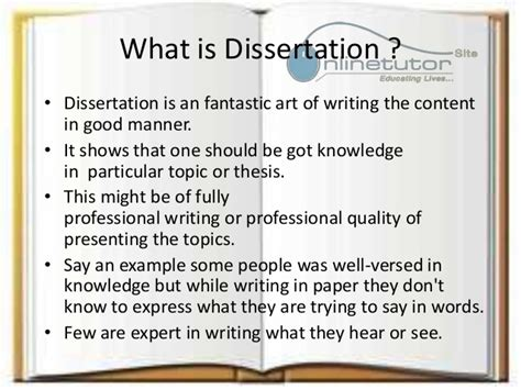 whats a dissertation what is dissertation