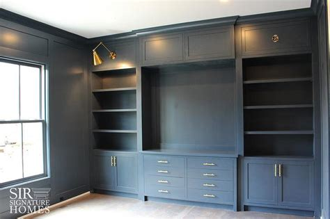 built in office cabinets home office light gray office built in shelves and cabinets