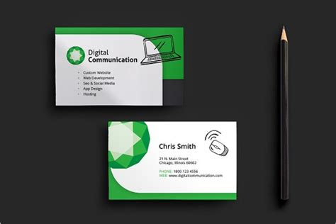 Computer Business Card Templates computer repair business card templates free premium