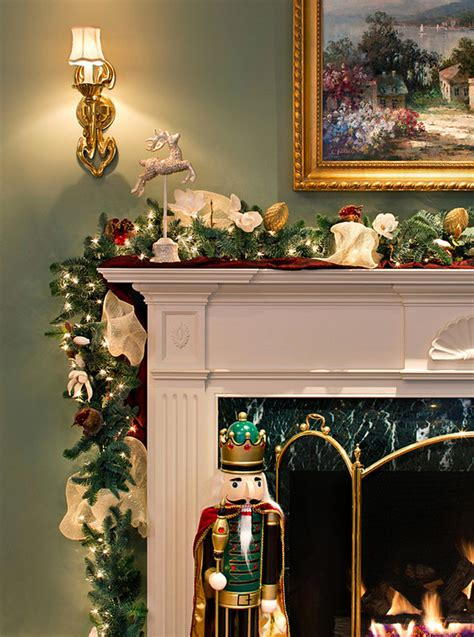 lighted garland for mantle garlands with lights for mantle holidays