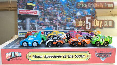 Car Minny Set 5in1 mattel disney pixar diecast cars mini speedway of the south custom take five a day