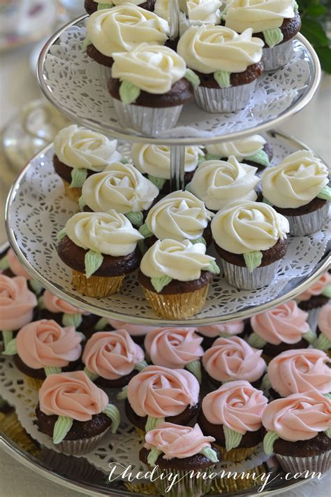 bridal shower cupcake pictures a vintage bridal shower in mint blush and ivory lace the diy