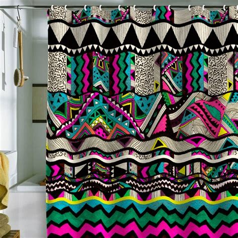 Neon Curtains Designs 37 Funky Bathroom Shower Curtains Ultimate Home Ideas