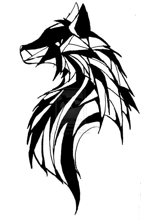 White Wolf Tattoo Design Black Wolf Designs