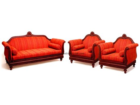 sofa loveseat chair set sofa sets indian teak wood sofa set design for home