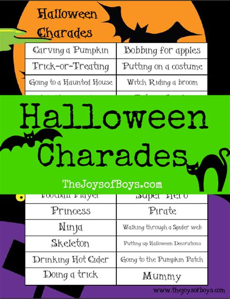 House Decorating Games For Adults halloween charades free printable halloween game the