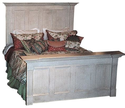 country king bed w headboard driftwood