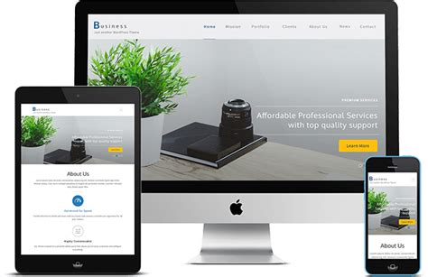 theme wordpress one page responsive business one page best free responsive wordpress theme