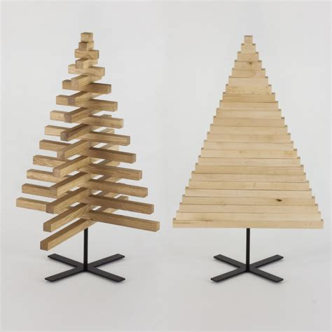 wooden christmas tree 30 inch 75 cm oak maple wood x
