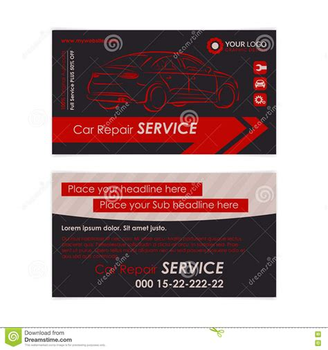 auto repair business card template create your own business card free free resume sles