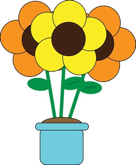 flower pot gardening free vector graphic flowers flower pot gardening free
