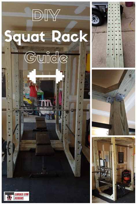 diy garage equipment diy squat rack guide garage reviews