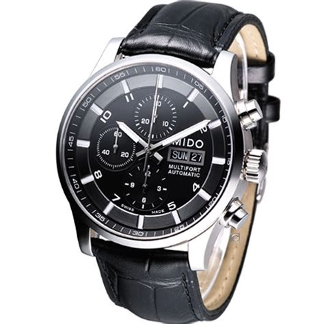 Mido Chrono 1918 Leather Brbu For mido multifort chronograph automatic swiss black m0056141605721 leather ebay