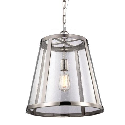 Feiss Harrow 1 Light Polished Nickel Pendant P1289pn The Polished Nickel Pendant Lights