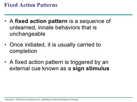 fixed action pattern definition biology ohhs ap biology chapter 51 presentation