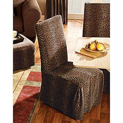 Zebra Print Dining Room Chair Covers Leopard Dining Room Chair Slipcovers Set Of 2