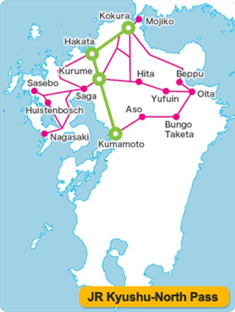 3 days northern kyushu jr pass tiket japan rail jrpass jepang jr kyushu pass