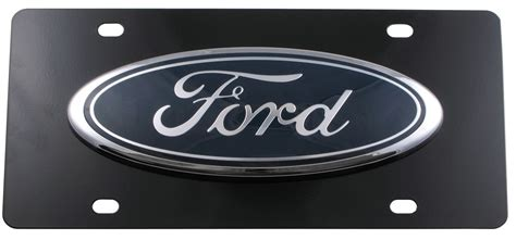 Ford Vanity Plates by Finished Stainless Steel License Plate Ford Logo Large Chrome Dwd Plastics License Plates