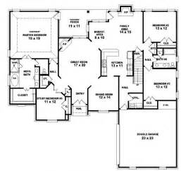 4 Bdrm House Plans 653964 Two Story 4 Bedroom 3 Bath French Country Style